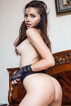 Playful Girl Stripping
